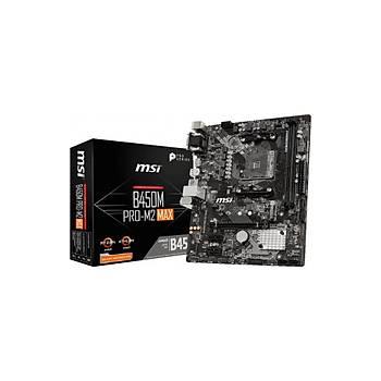 MSI B450M PRO-M2 Max AMD B450 3200MHz DDR4 mATX Anakart