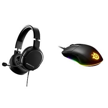 Steelseries Arctis 1 Kulaklýk + Rival 3 Mouse Bundle