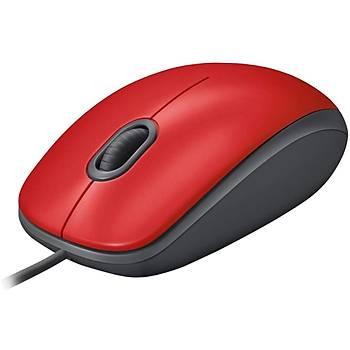 Logitech M110 Silent (Sessiz) Kablolu Optik USB Mouse - Kýrmýzý