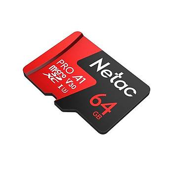P500-Pro-64G - Netac Micro Sd Card 64 GB Pro With Adapter