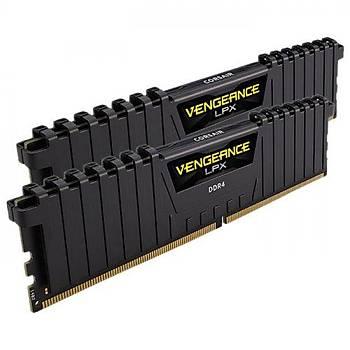 Corsair Vengeance CMK16GX4M2A2666C16 16GB (2x8GB) DDR4 2666MHz CL16 Black LPX Soðutuculu DIMM Bellek