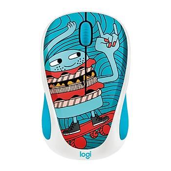 Logitech M238 Kablosuz Mouse The Doodle Collection Skateburger