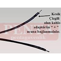 Dişi Uçlu Güç Konnektörü  , Dişi Power Jack + 23 Cm Kablo  /  1247