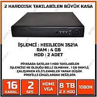 14 KAMERALI  GÜVENLÝK KAMERA SÝSTEMÝ - 2MP AHD KAMERA SÝSTEMÝ -  500GB HDD - 100 MT KABLOLU