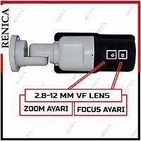 Renica HD-A190 2 MP APTİNA 42 IR Led,  2.8-12 mm Ayarlı Lens,  OSD Menü AHD Kamera - 1686R
