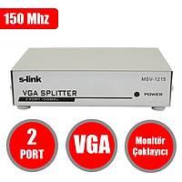S-link MSV-1215 2 VGA 150Mhz Monitör Çoklayıcı - 1608