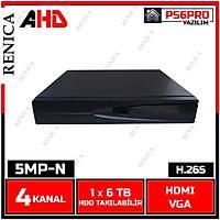 RENICA  PB-2504E GOLD 5MP-N  4 KANAL P6 AHD H265  DVR  Kayit Cihazı / 1767R
