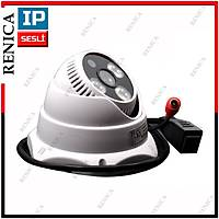 Renica IP-E737 1.3 MP  3 Array Led 3,6 MM Lens SESLÝ Altýgen Dome IP Kamera  - 1413R