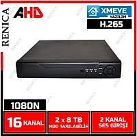 Renica AD-1604 16 Kanal 2MP 1080N AHD Dvr Kayýt Cihazý -XMEYE -1679R