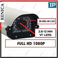 Renica IP-E1158 2 MP Sony EXMOR IMX-322 Muhafaza IP Güvenlik Kamerasý  /  1600R