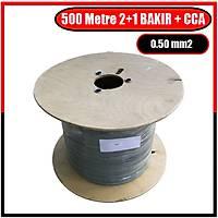 500 Metre 2+1 Cctv BAKIR+CCA Kablo (1x 0.50 BAKIR + 2x 0,50 mm CCA) / 1341