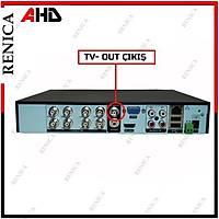 RENICA PC-2608 PREMIUM  8MP-N  8 KANAL H265  P6 H265 AHD  DVR  Kayit Cihazı / 1762R