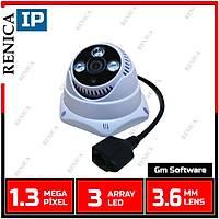 Renica IP-E937 1.3 MP (960p) 3 Array Led 3,6 MM Lens Altýgen Dome IP Kamera - 1561R