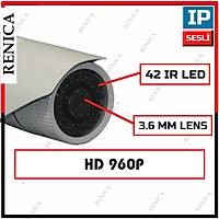 Renica IP-E761 1,3 MP 42 IR  Led 4 MM Lens IP Kamera - 1481R