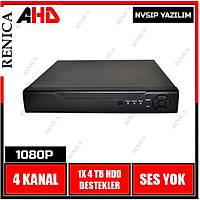Renica AD-0421 4 Kanal 2 MP AHD Dvr Kayıt Cihazı -NVSİP / 1596