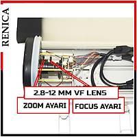 Renica HD-B658 2 MP 36 BÝG Led 2,8-12 mm VF Muhafaza kasa AHD Kamera - 1668R