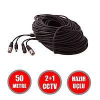 50 Metre Hazýr AHD/ANALOG/TVI/CVI  Cctv  Fabrikasyon Kablo / 1145