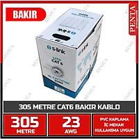 305 MT  BAKIR UTP CAT6 KABLO  0.55MM 23AWG SL-CAT707  - 1808