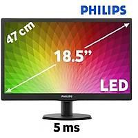 Philips 193V5LSB2/62 18.5 5ms LED Parlak Siyah Monitör - 1594