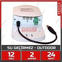 12V  2 Amper Su Geçirmez Kutulu Switch Mode Adaptör / 1246