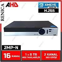 Renica AD-1606 16 Kanal 2MP 1080N AHD Dvr Kayýt Cihazý -XMEYE -1831R