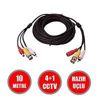 10 Metre Hazýr Görüntü+Güç+Ses   AHD/ANALOG/TVI/CVI  Cctv Fabrikasyon Kablo / 1146