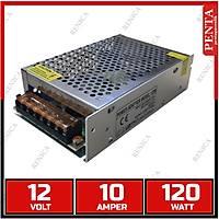 12V 10 Amper Metal kasa Güvenlik Kamerası Adaptör - Midi Kasa - 1732