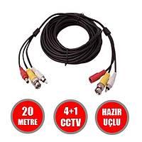 20 Metre Hazır Görüntü+Güç+Ses   AHD/ANALOG/TVI/CVI  Cctv Fabrikasyon Kablo / 1147