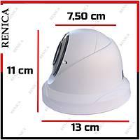 Renica IP-E2634 3 MP 36 Led 2.8-12 MM Varifocal Lens SONY IMX307 Sensor Plastik Dome Kasa H.265 IP Kamera - 1858R