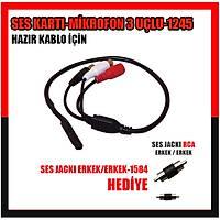 KAMERA SES KARTI MİKROFON   SES ÇIKIŞ + GÜÇ GİRİŞ + GÜÇ ÇIKIŞ  /  1245