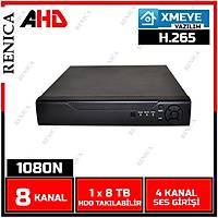 Renica AD-0821 8 Kanal 2MP 1080N AHD Dvr Kayýt Cihazý -XMEYE-1628