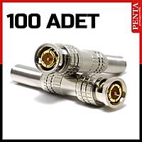 100 Adet Yaylı Bnc Konnektör Jack  /  1081-100