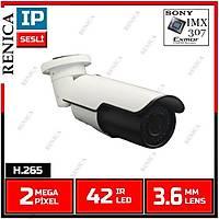 Renica IP-E1190 3 MP SONY EXMOR IMX 307  42 IR  Led 2.8-12 MM VF Lens IP Kamera - H265/H264 - 1707R