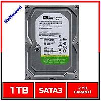 1TB Western Digital 7200RPM AV-GP WD10EURX  7/24 Güvenlik Diski-1463