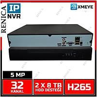 RENICA NVR-X5A25-H2 32 KANAL 5MP  NVR KAYIT CÝHAZI -2 HDD  H265+  / 1770R