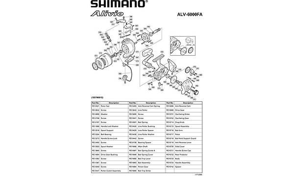 SHIMANO ALIVIO 6000 FA 4.9:1 TUR 1XSSS+1 BB