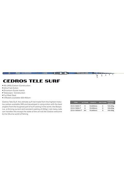 Okuma Cedros Surf Kamýþ 420 cm 100-200 gr Aksiyon