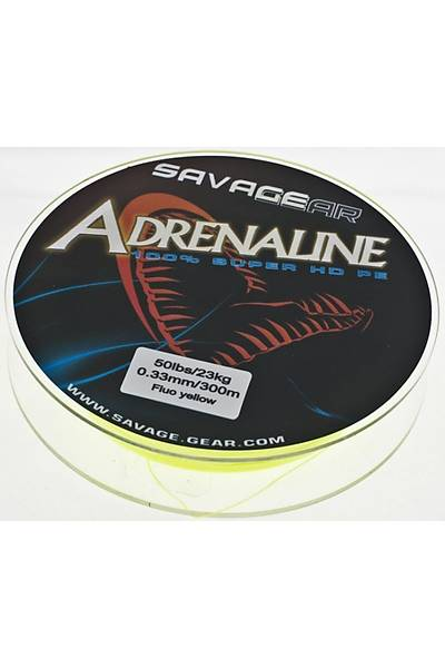 Savagear Adrenaline HD Fluo Yellow Örgü Misina 120 mt