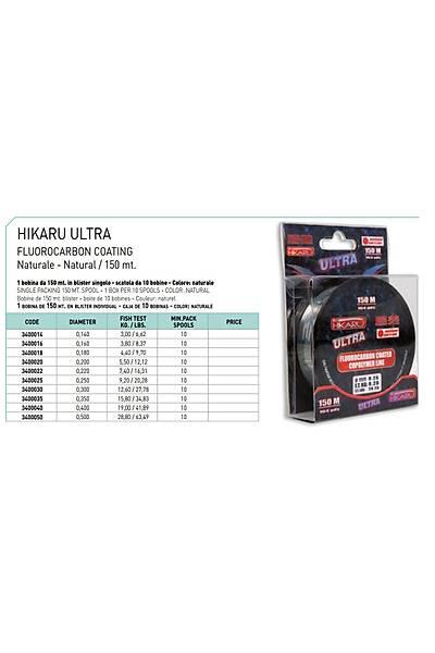 Lineaeffe Hýkaru Ultra Floro Carbon 150mt