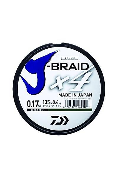 Daiwa J-Braid 4B Koyu Yeþil 270m Ýp Misina