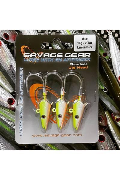 Savagear Sandeel Jigg Head 16gr #3/0 Lemon Back