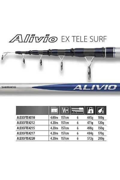 SHIMANO ALIVIO EX TELE SURF 4,20 MT AKSÝYON 150 GR AÐIRLIK 498 GR