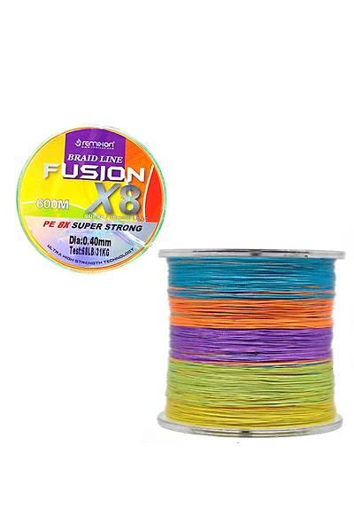 Remixon Fusion 600m 0,40 mm X8 Multi Color Ýp Misina (FUS600M8MC30)