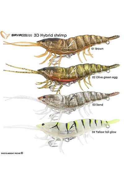 Savagear 3D Hybrid Shrimp 10 cm 17 gr S Suni Yem