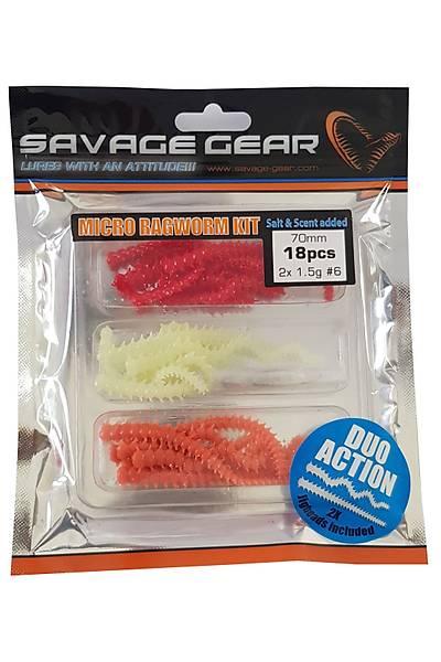SG Lrf Ragworm kit 18+2pcs  (Brown Glow)