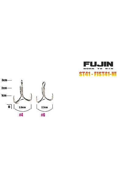 Fujin ST41 Üçlü Maket Balýk Ýðnesi Nickel