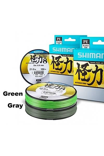 Shimano Kairiki 0,07mm SX8 Mantis Green  300m Ýp (Örgü) Misina