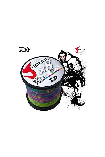Daiwa JBraid 8B Bobin Multicolor 1500m 0,42 mm Ýp Misina (12755220)