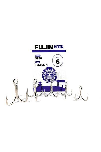 Fujin ST56 Üçlü Maket Balýk Ýðnesi Nickel #6 NO