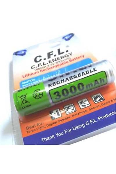 C.F.L. 18650 3000 mAh 3,7 V Lithium-Ion Batarya